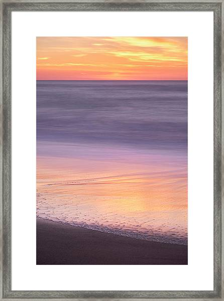 Framed Print featuring the photograph Gleneden Beach Sunset by Whitney Goodey