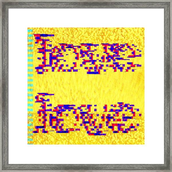 Glitched Love Framed Print