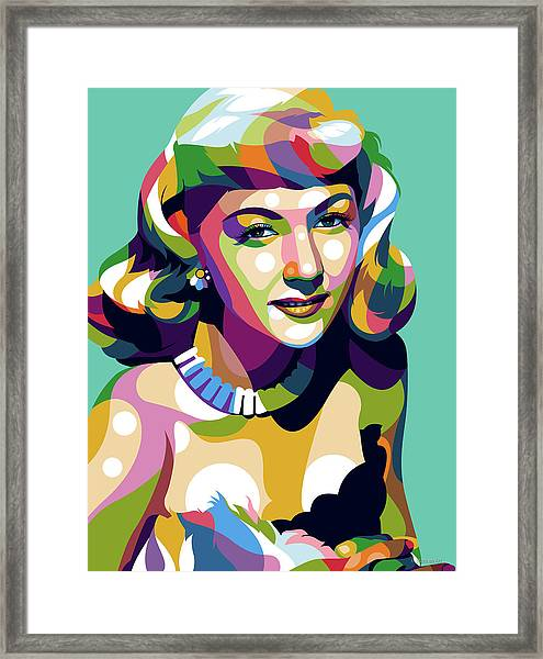 Gloria Graham Framed Print