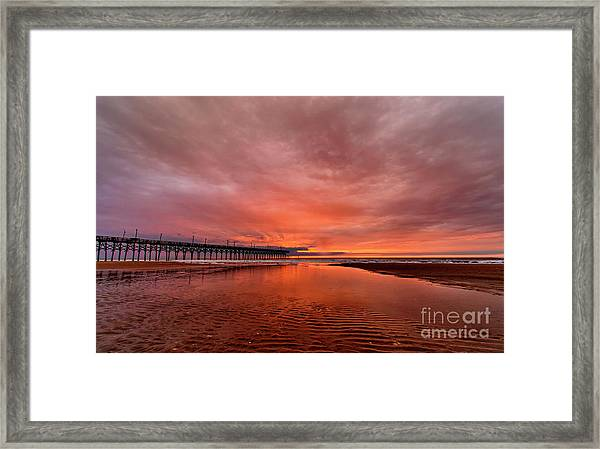 Framed Print featuring the photograph Glowing Sunrise by DJA Images