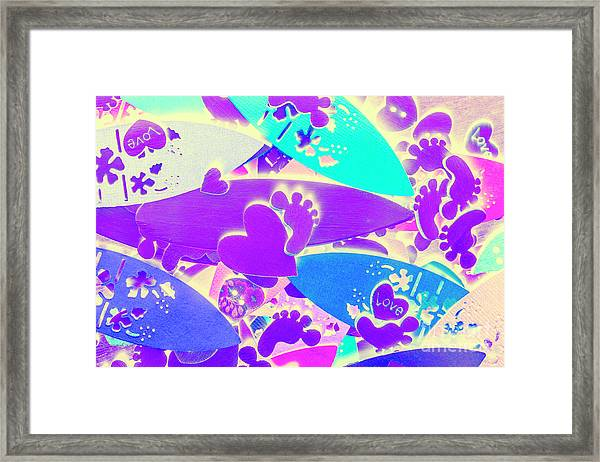Gnarly Wipeout Framed Print