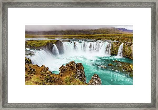 Godafoss Waterfall, Iceland Framed Print