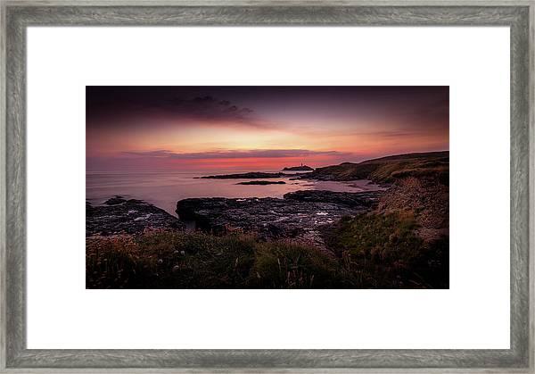 Godrevy Sunset - Cornwall Framed Print