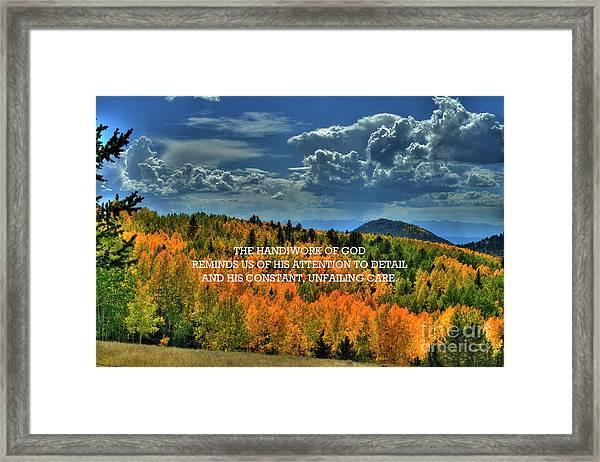God's Handiwork Framed Print