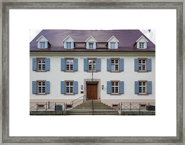 Goethehaus Facade Framed Print