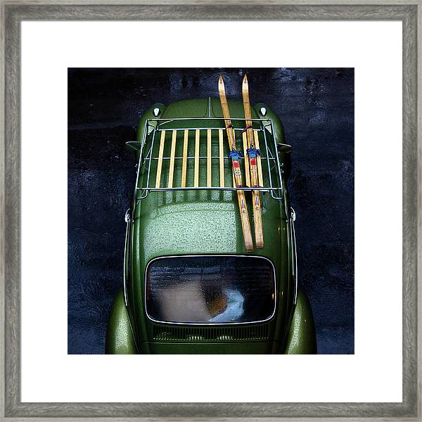 Going Skiing Framed Print by Svein Nordrum