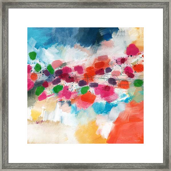 Going Somewhere- Abstract Art By Linda Woods Framed Print