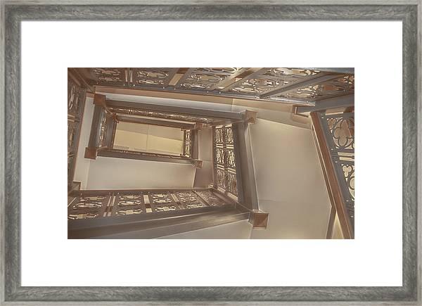Going Up...evens Hall Carleton College Framed Print