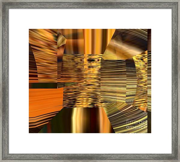 Framed Print featuring the digital art Gold  by A z Mami