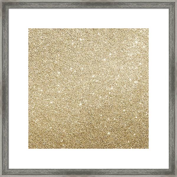 Gold Glitter Framed Print