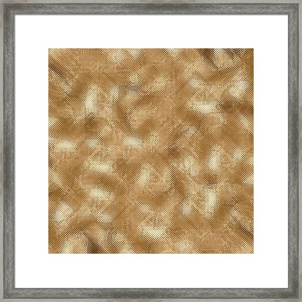 Gold Metal  Framed Print