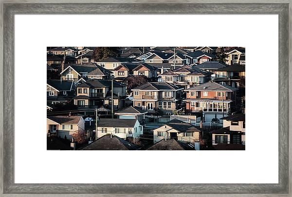 Golde Hour At Home Framed Print