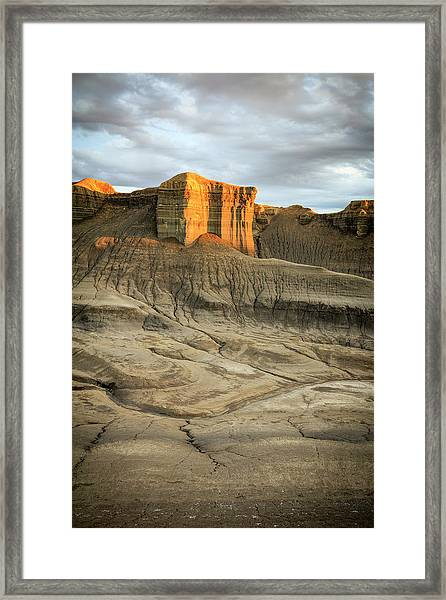 Golden Badlands Framed Print