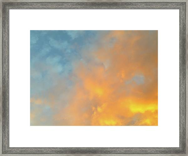 Golden Blue Sky Framed Print