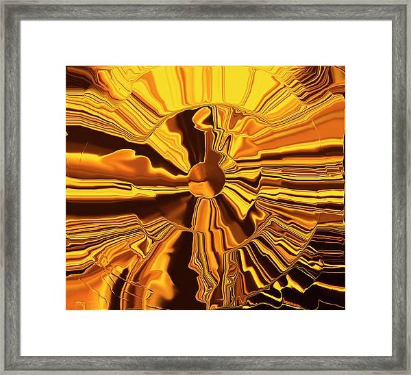 Golden Circle Framed Print