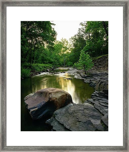 Golden Creek Framed Print