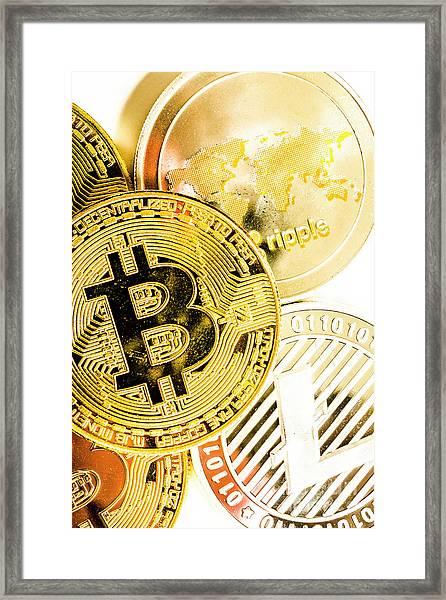 Golden Exchange Framed Print