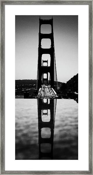 Golden Gate Reflection Framed Print