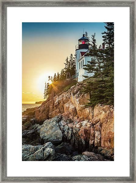 Golden Hour In Acadia Framed Print