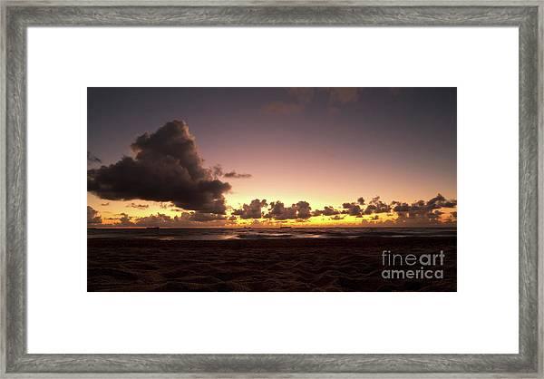 Golden Hour Off Florida Coast Framed Print by Matt Tilghman