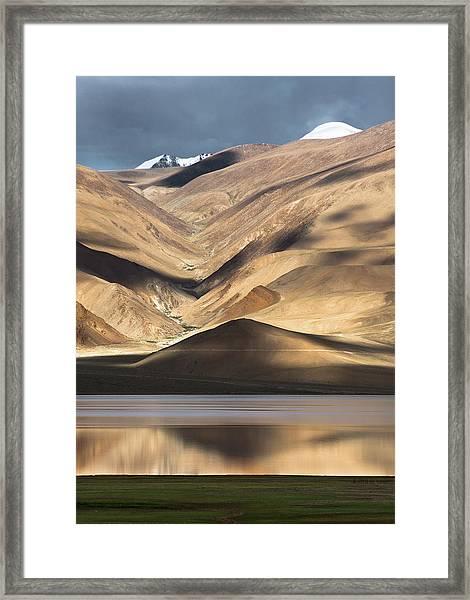 Golden Light Tso Moriri, Karzok, 2006 Framed Print
