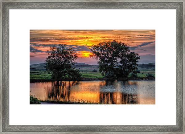 Golden Pond At 36x60 Framed Print