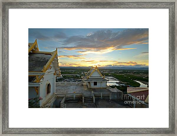 Golden Sunset On Prachuap Khiri Khan Framed Print