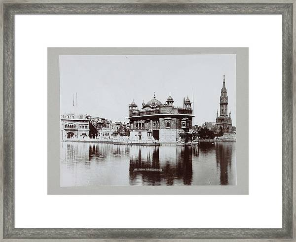 Golden Temple In Amritsar, Anonymous, C. 1895 - C. 1915 Framed Print