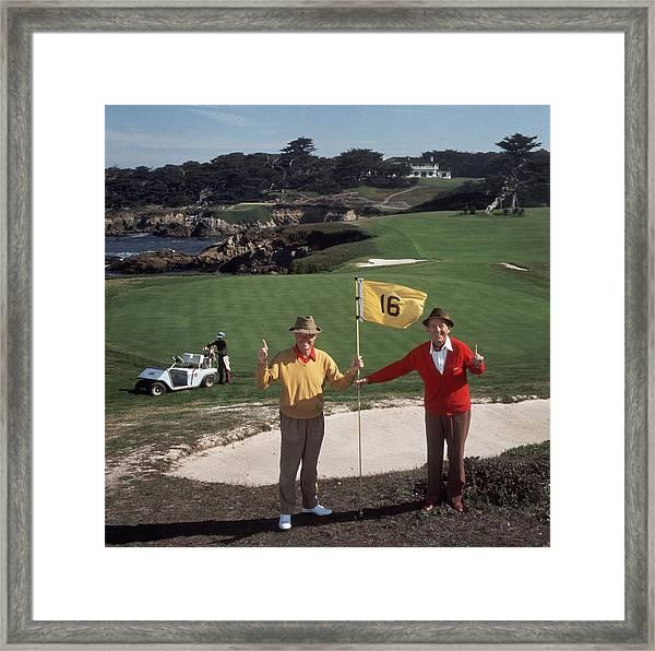 Golfing Pals Framed Print