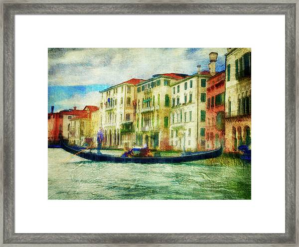 Gondola Ride Framed Print
