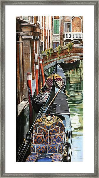 Gondole Colorate Framed Print