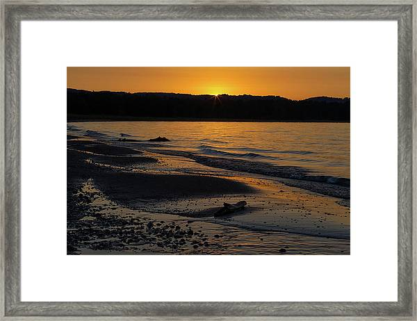 Good Harbor Bay Sunset Framed Print