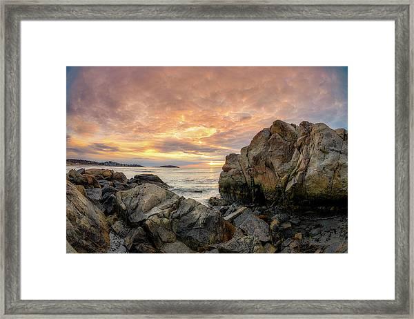 Good Harbor Rock View 1 Framed Print