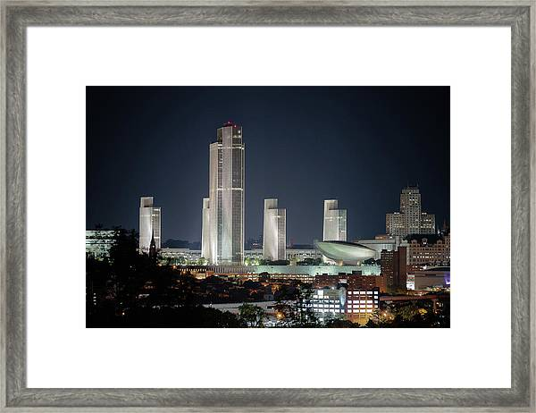 Goodnight Albany Framed Print