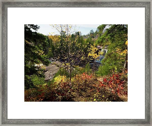 Gooseberry Falls From Above Framed Print
