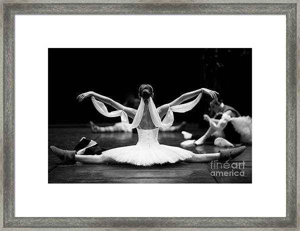 Gorgeous Ballerina Repeating Movements Framed Print