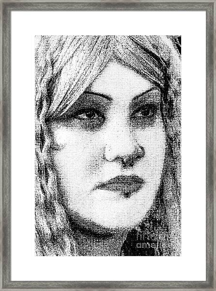 Goth Headshot Framed Print