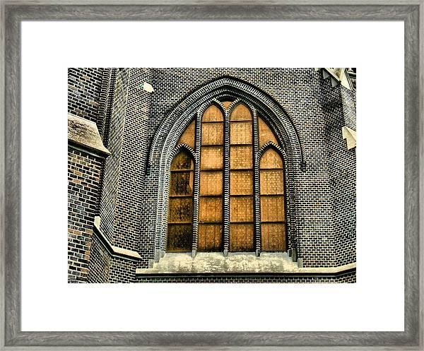 Gothic Church Window Framed Print