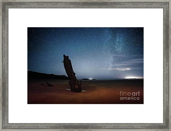 Gower Helvetia At Night  Framed Print