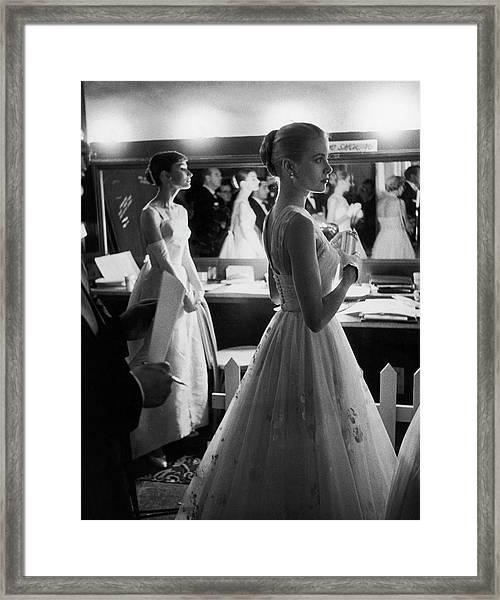 Grace Kellyaudrey Hepburn Framed Print