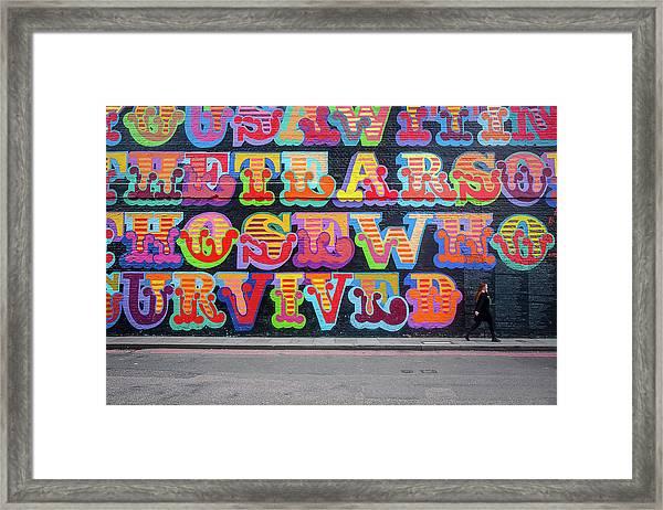Graffiti Mural Framed Print