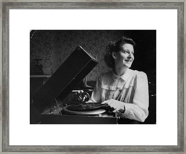 Gramophone Girl Framed Print