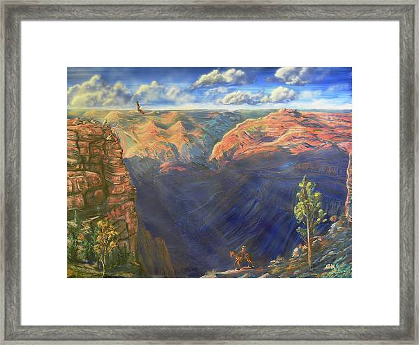 Grand Canyon And Mather Point Framed Print