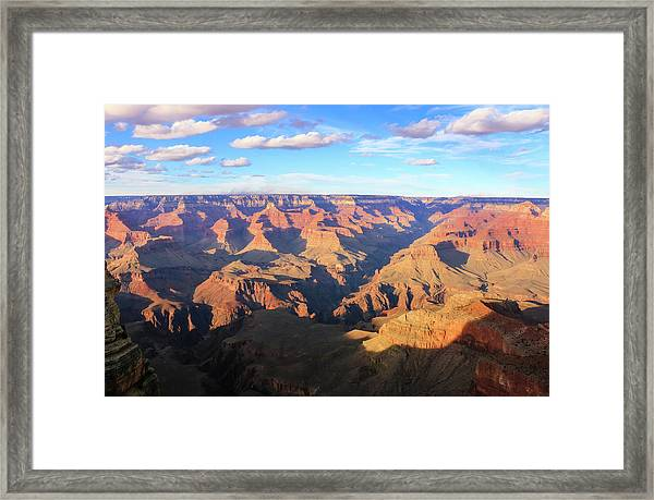 Framed Print featuring the photograph Grand Canyon Near Sunset by Dawn Richards