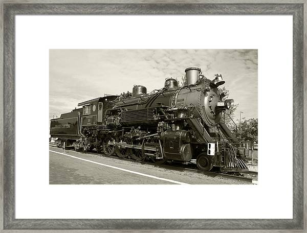 Framed Print featuring the photograph Grand Canyon Railway by Dawn Richards