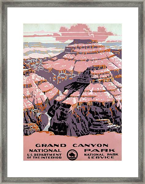 Grand Canyon Travel Poster Framed Print
