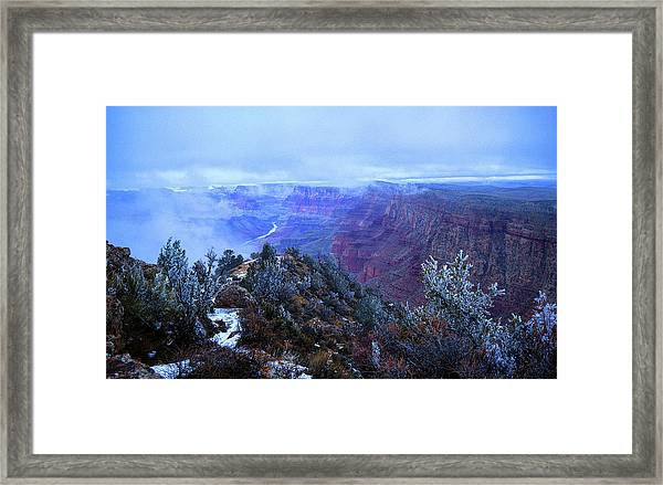 Framed Print featuring the photograph Grand Canyon Winter Scene by Chance Kafka