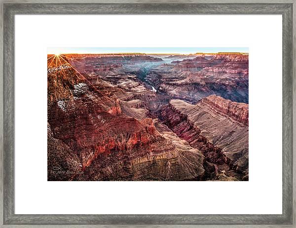 Grand Canyon Winter Sunset Framed Print