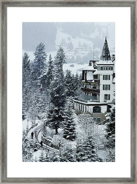 Grand Hotel Alpina Framed Print