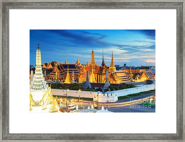 Grand Palace And Wat Phra Keaw At Framed Print by Southerntraveler